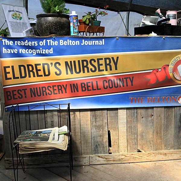 eldreds nursery banner