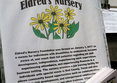 eldreds nursery sign